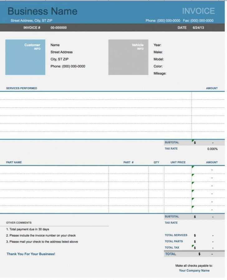 56 Blank Auto Repair Invoice Template Microsoft Office Layouts for Auto Repair Invoice Template Microsoft Office