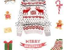 56 Blank Christmas Sweater Card Template Now for Christmas Sweater Card Template