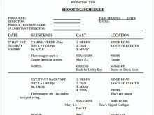 56 Blank Film Production Schedule Template Word For Free with Film Production Schedule Template Word