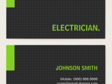 56 Create Business Card Template Electrician Templates with Business Card Template Electrician