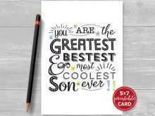 56 Creating Birthday Card Templates For Son in Word by Birthday Card Templates For Son