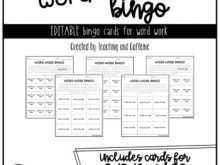 56 Creative Bingo Card Template For Word Formating by Bingo Card Template For Word