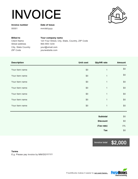 56 Customize Our Free Construction Business Invoice Template PSD File by Construction Business Invoice Template