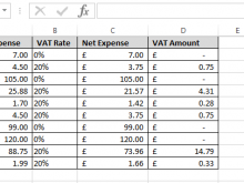 Invoice Template With Vat Calculation