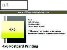4X6 Postcard Printing Template