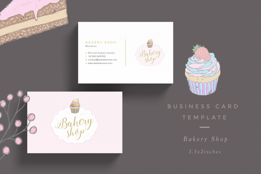 56 Format Bakery Name Card Template Photo for Bakery Name Card Template