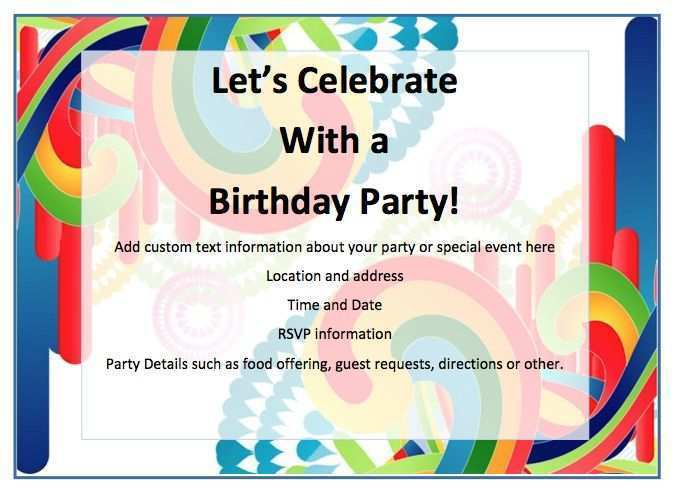 56 Free Free Birthday Flyer Template Word in Word for Free Birthday Flyer Template Word