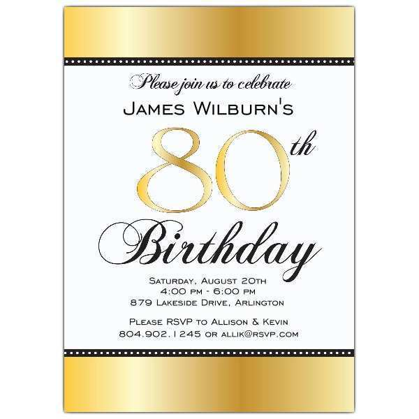 56 Free Printable 80Th Birthday Card Template for Ms Word for 80Th Birthday Card Template