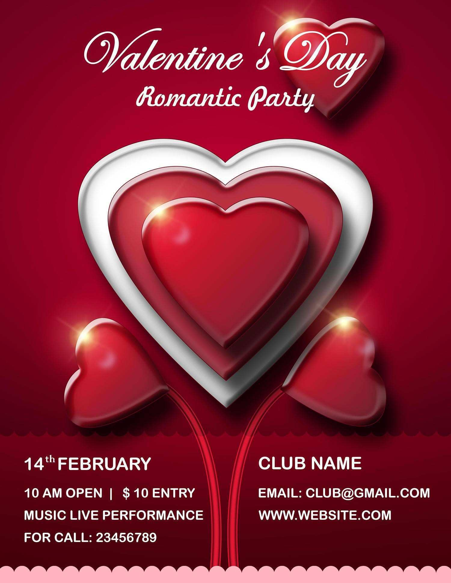 56 Free Printable Valentines Day Flyer Template Free Photo with Valentines Day Flyer Template Free