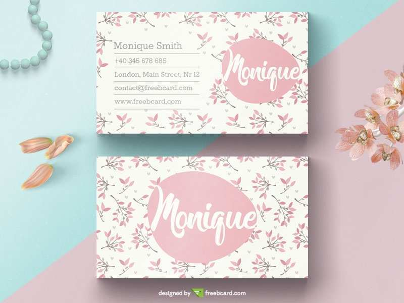 56 How To Create Flower Business Card Template Free PSD File with Flower Business Card Template Free