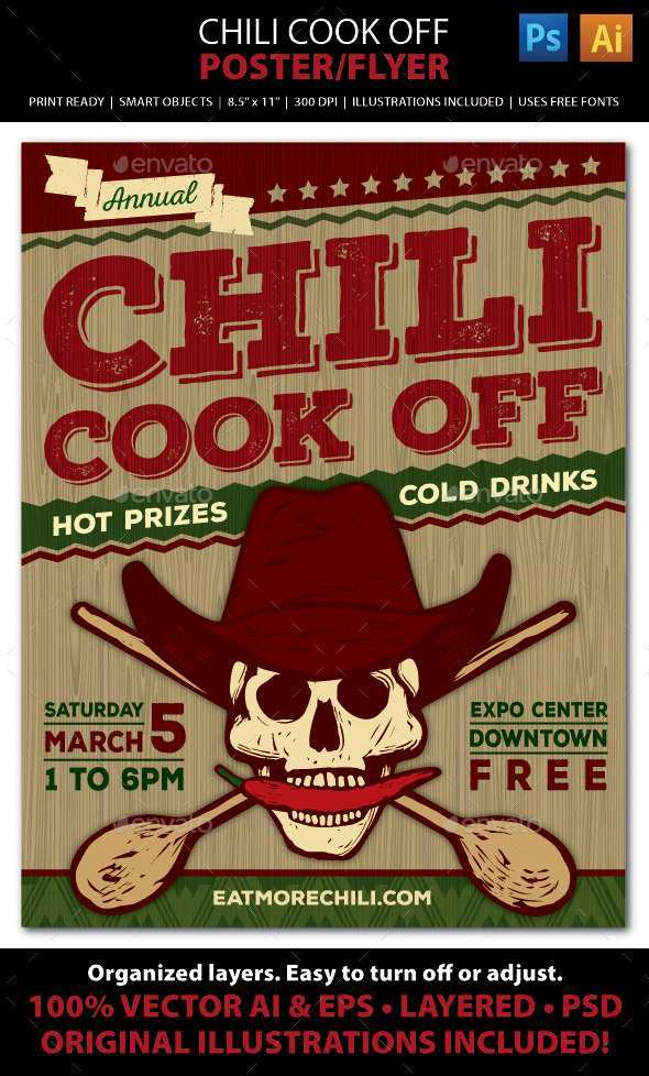 56 Report Chili Cook Off Flyer Template Free By Chili Cook Off Flyer Template Free Cards Design Templates