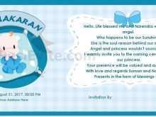 56 Report Invitation Card Format Naming Ceremony For Free for Invitation Card Format Naming Ceremony