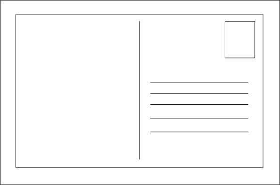 56 The Best Blank Postcard Template With Lines PSD File by Blank Postcard Template With Lines