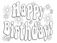 56 The Best Happy Birthday Card Template To Color Formating with Happy Birthday Card Template To Color