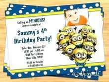 57 Adding Birthday Invitation Card Template Minion With Stunning Design for Birthday Invitation Card Template Minion