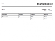 57 Best Blank Invoice Template Online in Word for Blank Invoice Template Online