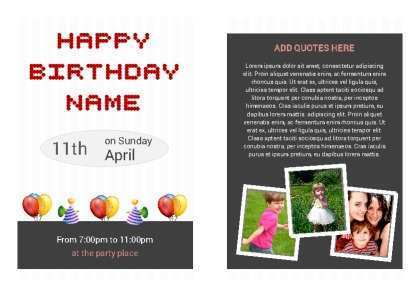 57 Birthday Card Template 8 5 X 11 Photo by Birthday Card Template 8 5 X 11