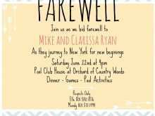 57 Blank Farewell Invitation Card Template Free Download in Word with Farewell Invitation Card Template Free Download