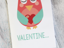 Owl Pop Up Card Template
