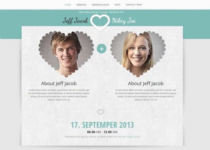57 Blank Wedding Card Website Templates