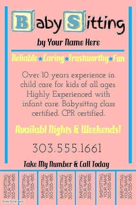 57 Create Babysitting Flyer Free Template Formating with Babysitting Flyer Free Template