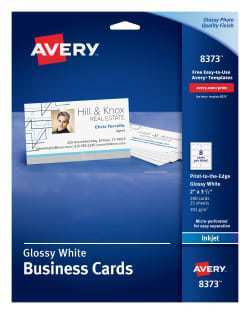 57 Create Business Card Template Avery 8373 For Free with Business Card Template Avery 8373