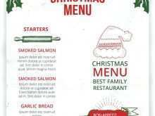 57 Create Christmas Menu Card Template Free For Free by Christmas Menu Card Template Free