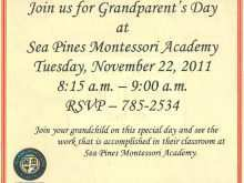 Invitation Card Format For Grandparents Day