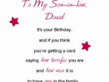 57 Customize Birthday Card Templates For Son With Stunning Design with Birthday Card Templates For Son