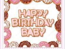 Baby Happy Birthday Card Template