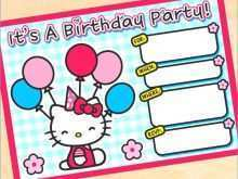 57 Customize Our Free Birthday Invitation Card Template Hello Kitty Maker by Birthday Invitation Card Template Hello Kitty