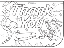 Thank You Card Template Eyfs