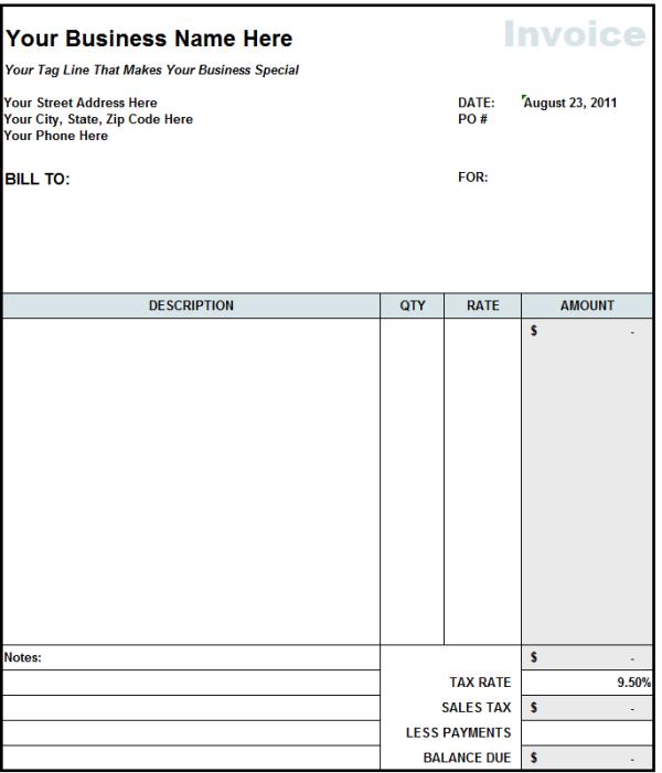 57 Format Blank Billing Invoice Template Pdf Formating with Blank Billing Invoice Template Pdf