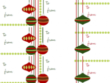 Christmas Card Tags Template