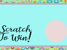 Printable Scratch Card Template