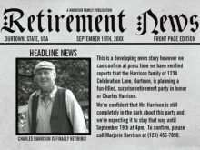 Free Retirement Flyer Templates