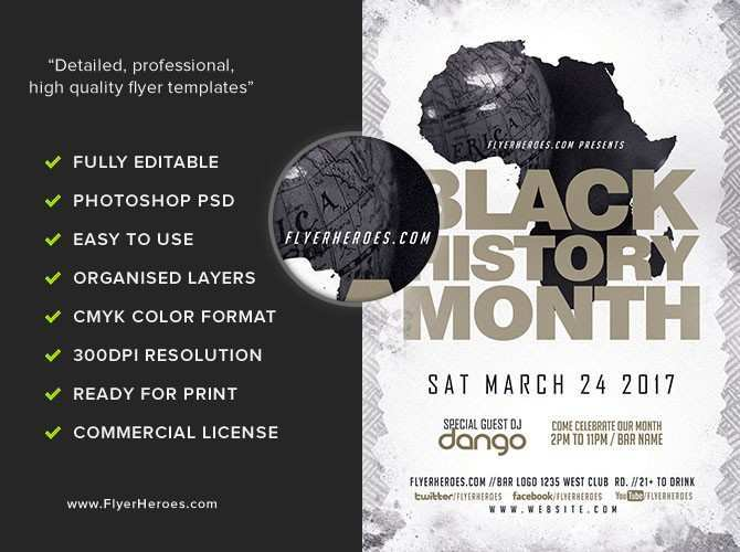 57 Standard Black History Month Flyer Template Layouts for Black History Month Flyer Template