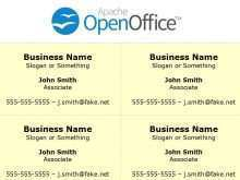 57 Standard Business Card Template Open Office Download by Business Card Template Open Office