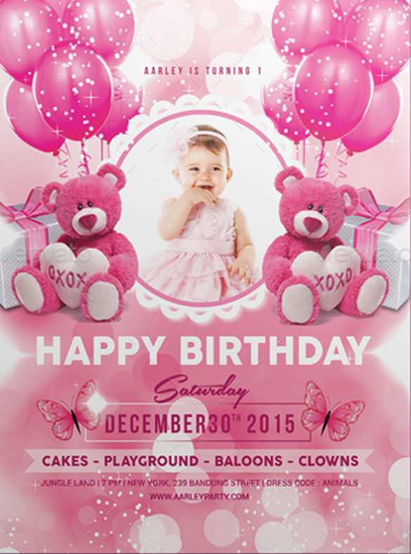 57 The Best Birthday Invitation Card Template With Photo Layouts for Birthday Invitation Card Template With Photo