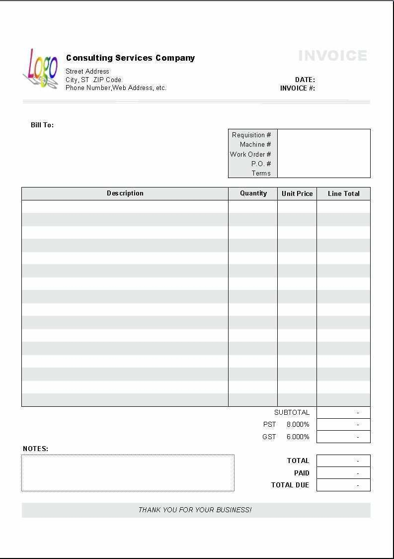 58 Basic Consulting Invoice Template Formating by Basic Consulting Invoice Template