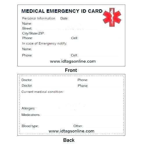 58 Blank Emergency Id Card Template in Photoshop with Emergency Id Card Template