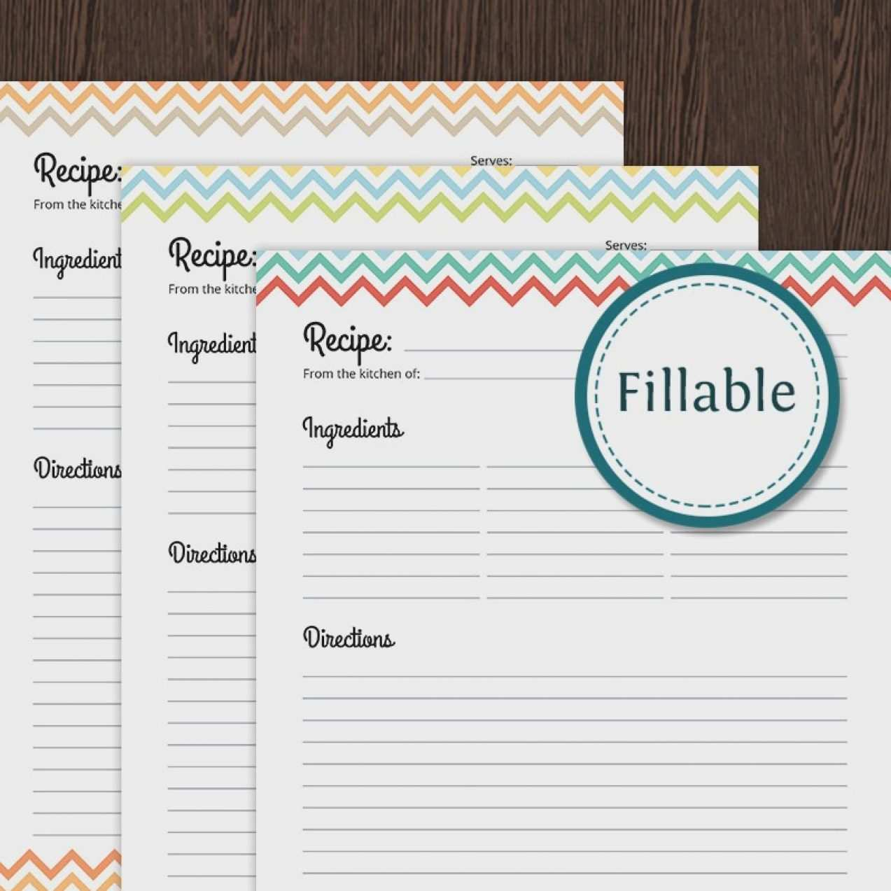 24 Blank Fillable Recipe Card Template For Word in Photoshop by With Full Page Recipe Template For Word