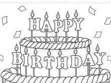 58 Create Happy Birthday Card Template To Color Now for Happy Birthday Card Template To Color