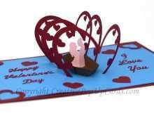 58 Creating Love Pop Up Card Templates Pdf Layouts with Love Pop Up Card Templates Pdf