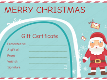 Christmas Gift Card Templates Free