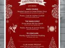 58 Customize Christmas Menu Card Template Free With Stunning Design for Christmas Menu Card Template Free