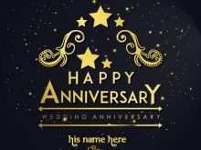 Wedding Anniversary Card Template Online