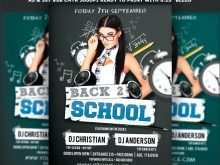 Back To School Party Flyer Template Free Download