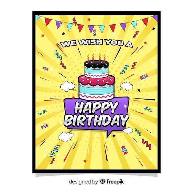 58 Format Birthday Card Template Freepik PSD File by Birthday Card Template Freepik