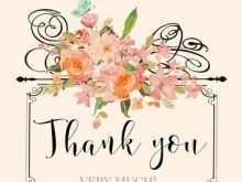 Thank You Card Template A4